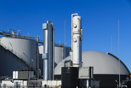 Bio gas plant Stock Photo