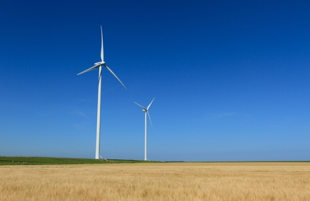 agricultural area: 2 windturbines in a agricultural area