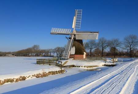Winter windmill photo
