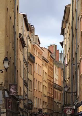 lyon: LYON, FRANCE, MAY 25: Street in Vieux-Lyon, the Renessaince part of Lyon city. May 25, 2016.