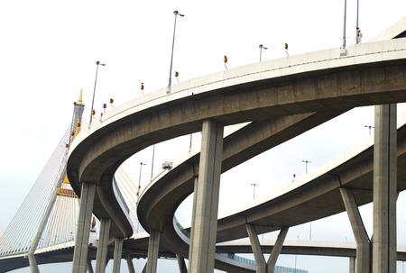 Curve of High way bridge