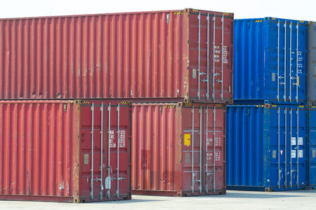 heavy industry: Yard of cargo container shipping.