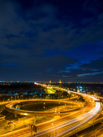 Bangkok Expressway and Highway top view, Thailand 写真素材
