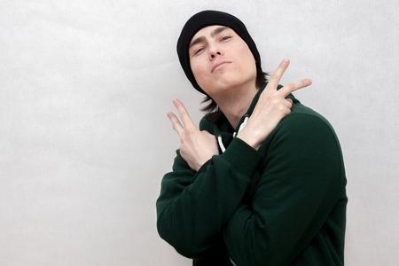 hip hop man: hand gestures dancing hip hop man