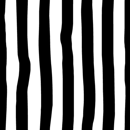 Seamless abstract pattern. Uneven black vertical stripes on a white background. Background for wallpaper and gift wrapping.