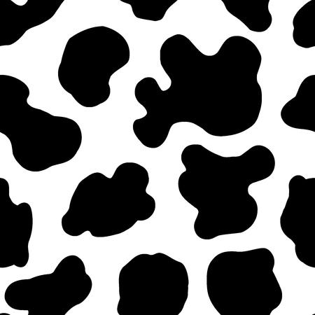 Patrón sin costuras. Manchas en la piel de una vaca. Ilustración de vector
