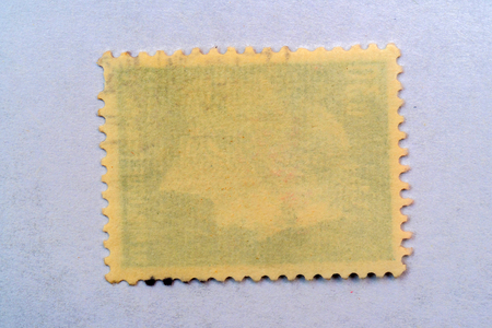 reverse side of a postage stamp. Stock fotó