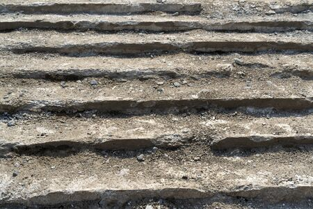 Repair of old concrete stairs. 스톡 콘텐츠