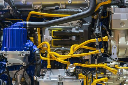 Diesel engine. Modern technologies for production of internal combustion engines. Stock fotó - 129477808