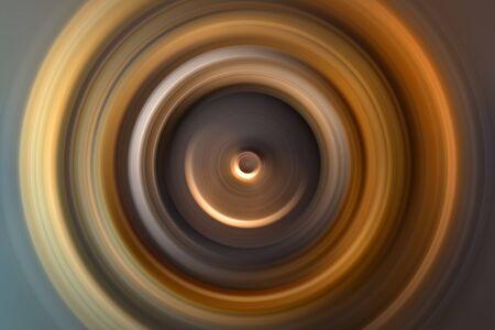 Abstrakter Hintergrund Abweichende Kreise von der Mitte. Exodus von Kreisen vom Mittelpunkt. Heiliges magisches Funkeln. Konzentrische Kreise ineinander. Standard-Bild