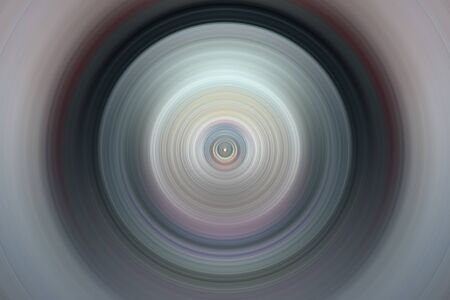 Abstract image. Concentric circles around central point. Flash Light. Designer background.