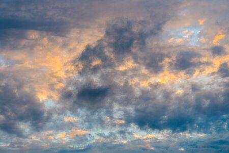Cloudy sky, gloomy clouds.
