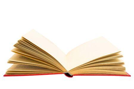 Pages jaunes d'un vieux livre. Livre ancien rare. Livre papier usagé. Banque d'images
