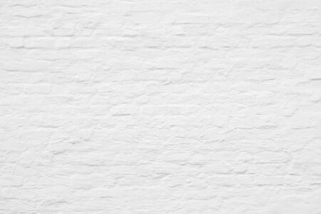 White brick wall. Texture of white bricks for modern interior.