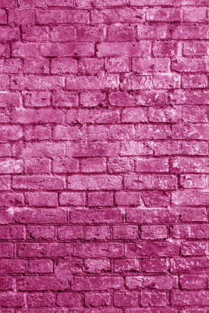 The background of the old pink brick wall for design interior and various scenes or as a background for video interviews. Foto de archivo