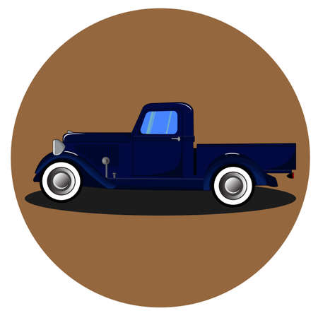 American retro truck,illustration vector vintage truck, classic car vector design