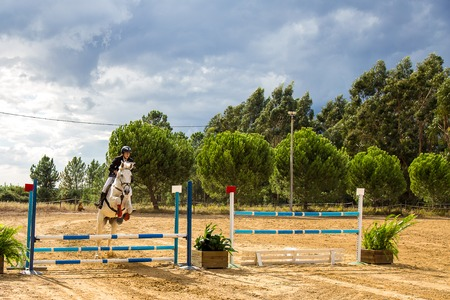 Alpiar?a - Portugal, 21 October 2018 Equestrianism Contest in a Nature Horse Reserve