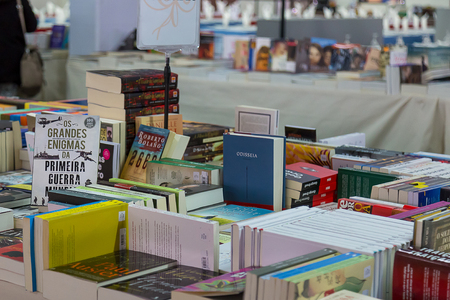 Coruche, Portugal, 3rd November 2018 - Book Fair in a Portuguese Flea Market