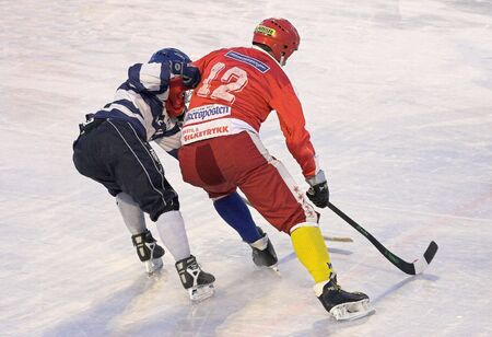 a cudgel: Bandy players