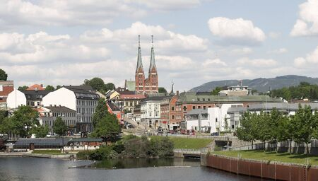 str: Skien, small Norwegian town