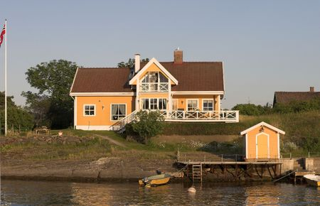 Yellow house photo