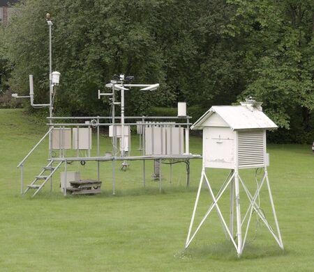 weather gauge: weather station Stock Photo