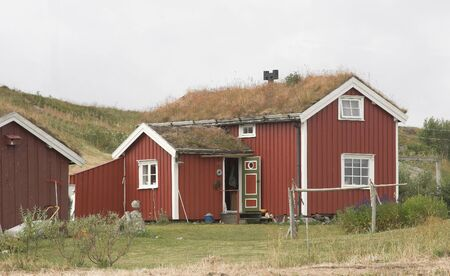 Red cottage photo