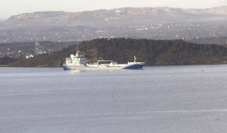 consignor: Cargo boat Stock Photo