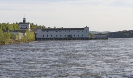 turbin: Power station in the river