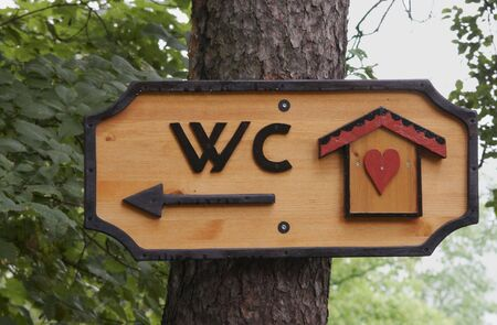 wc: This way to WC