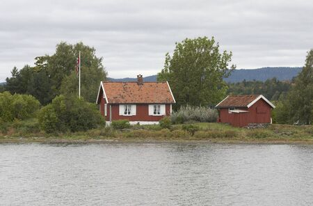 Small cottage on a small island.