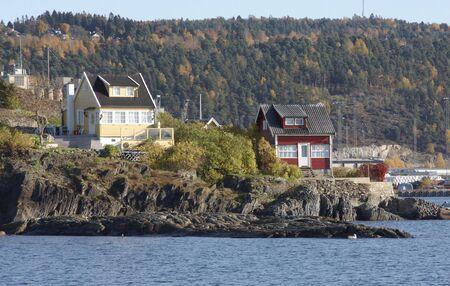 settled: Cottage near the sea.  Stock Photo