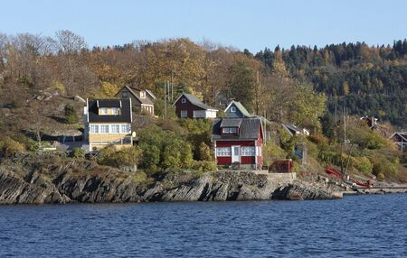 cordage: Cottange on the island Stock Photo