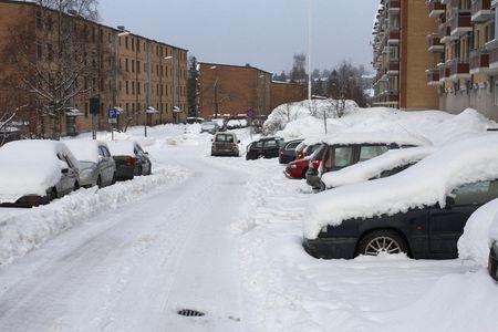 coberto: Snow in the street
