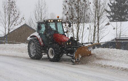 plough: Snow plough.
