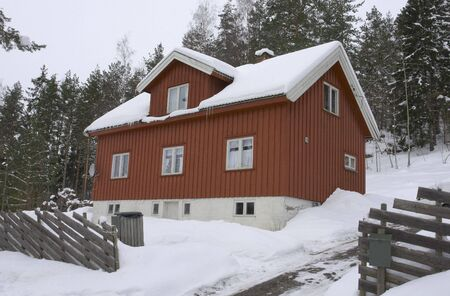 House in the winter. photo