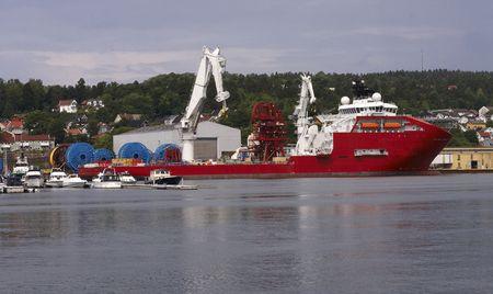 Norwegian Harbour Stock Photo