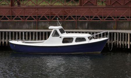 Small blue boat