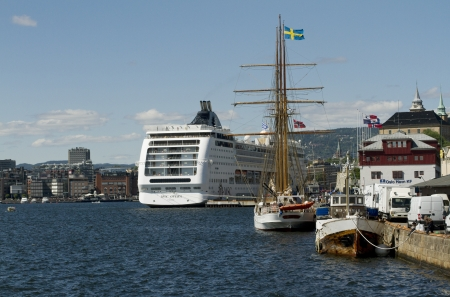artic circle: Oslo harbour
