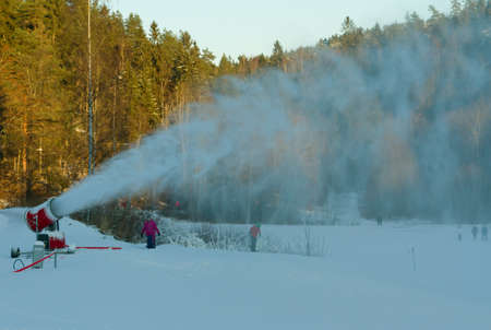 Snow production photo