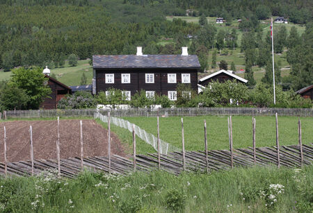 Old Norwegian building photo