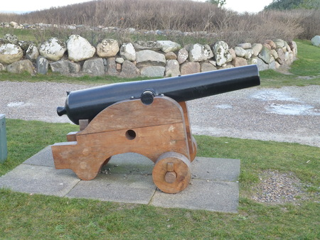 hirtshals: Salute cannon Stock Photo
