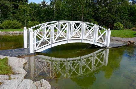 crosscut: White bridge Stock Photo
