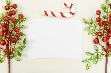 Mockup of Christmas Postcard, 5x7-inch. Gift card mockup, greeting, invitation, commemoration.