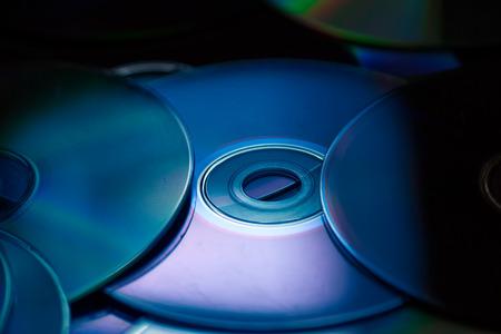 glint: Close-up Compact discs Stock Photo