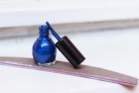 polish: Blue nail polish