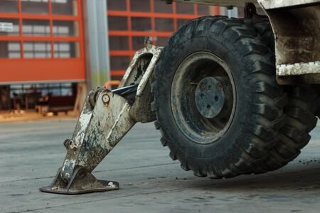 constrution: Part of excavator - heavy Industry - machinery