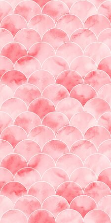 Pink sea wave geometric texture. Fish scale seamless pattern. Print for textile, wallpaper, wrapping.