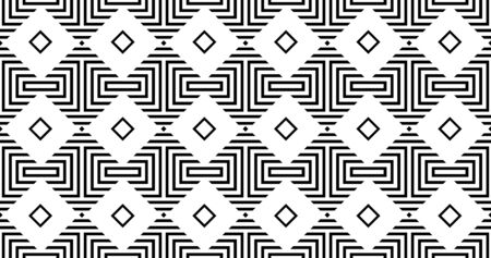 Vector geometric seamless pattern with rhombuses. Modern stylish striped texture. 일러스트