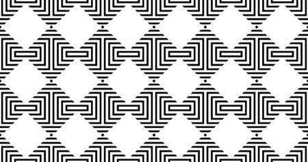 Vector geometric seamless pattern with rhombuses. Modern stylish striped texture. Illustration